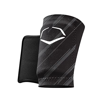 best service 27dc0 c55ec EvoShield MLB Protective Speed Stripe Wrist Guard, Black, Small