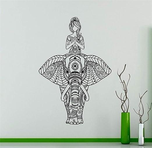 etiqueta de la pared decoración Indian Elephant Yoga Decor ...