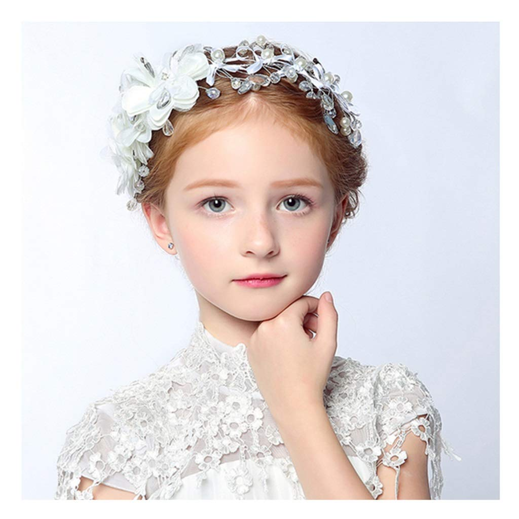 Wreath Flower Princess Hair Accessories Girl Pearl Flower Children Show Headwear