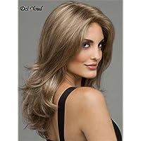 Dai Cloud Fashion Women's Kanekalon Long Golden Blonde Curly Wavy Fluffy Cosplay Hair Full Wig Halloween Wigs