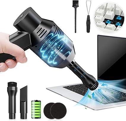 Aspirador inalámbrico para teclado, teclado USB, limpiador de teclado (veneno: Keycap Remover + cepillo), 1000Pa Mini juego de limpieza de polvo para teclado, coche, pelo de animales, portátil, sofá: Amazon.es: Hogar