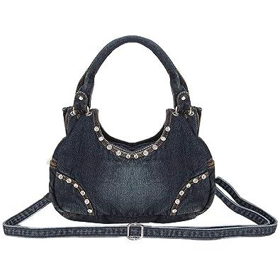 Amazon.com  Donalworld Women Cute Flower Jeans Denim Tote Handbags Black   Shoes