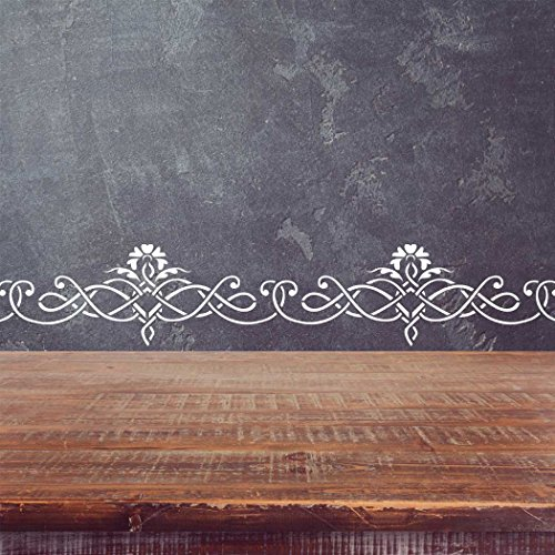 - J BOUTIQUE STENCILS Wall Border Elegant classic stencil Pattern 097 Reusable Template for DIY wall decor