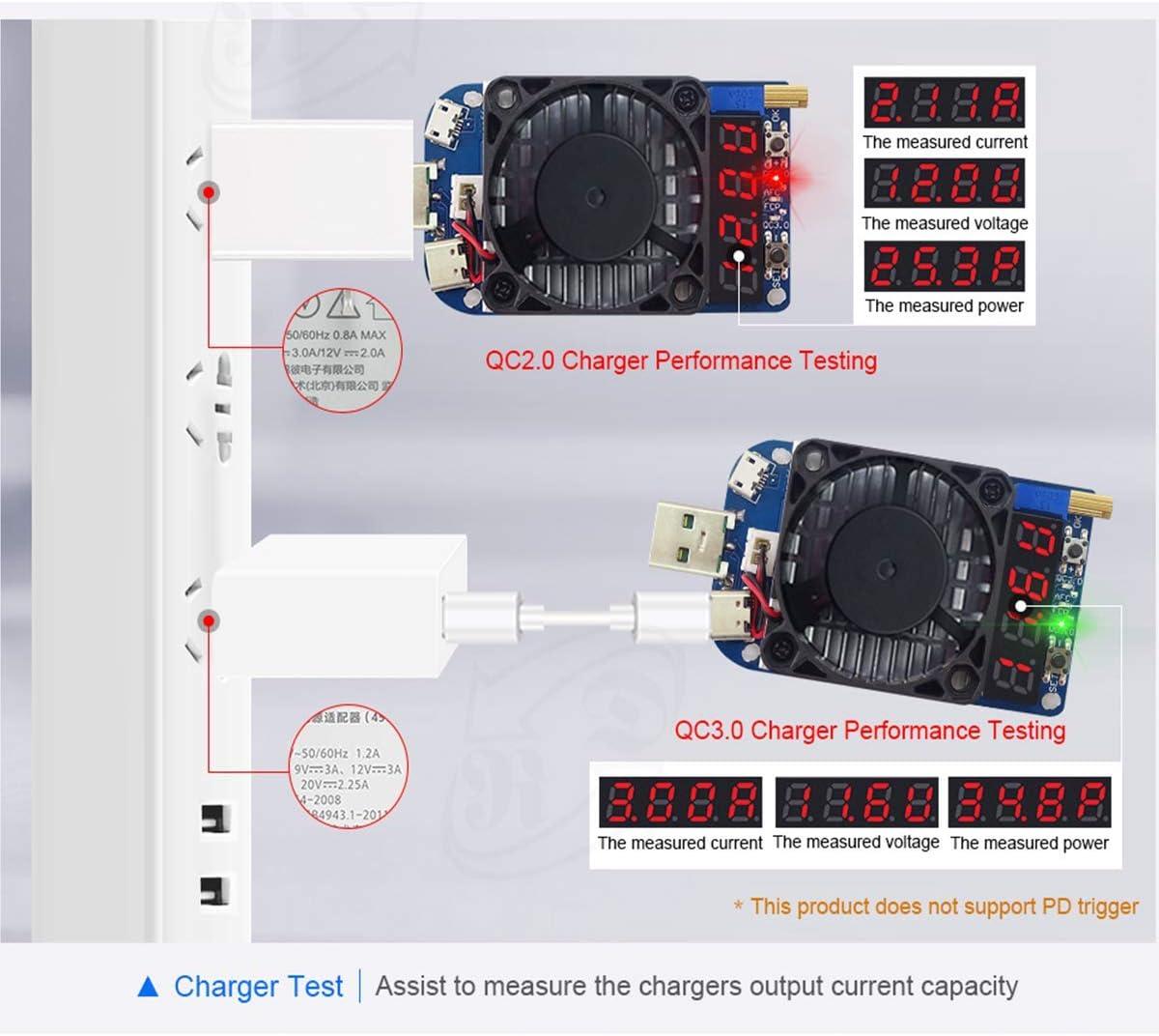 testeur de Courant Bluetooth de Type C pour testeur USB de Type C Bluetooth QC 2.0 3.0 multim/ètre de testeur de Courant pour /écran LCD Couleur 5A 1.44inch 5A DollaTek Voltm/ètre UM25C USB