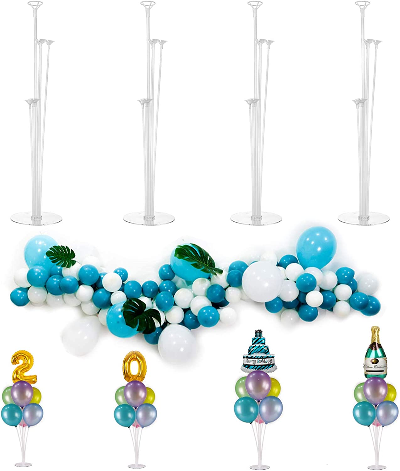 decorative table centerpieces.htm amazon com 4 pack balloon stands kit centerpieces with balloon  4 pack balloon stands kit centerpieces