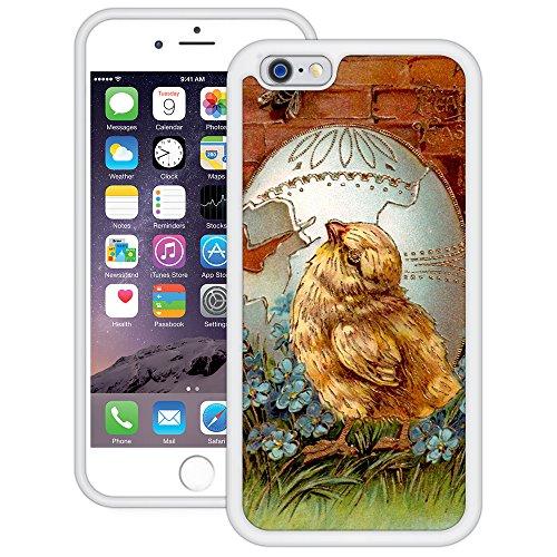 Vintage Küken Ei   Handgefertigt   iPhone 6 6s (4,7')   Weiß TPU Hülle