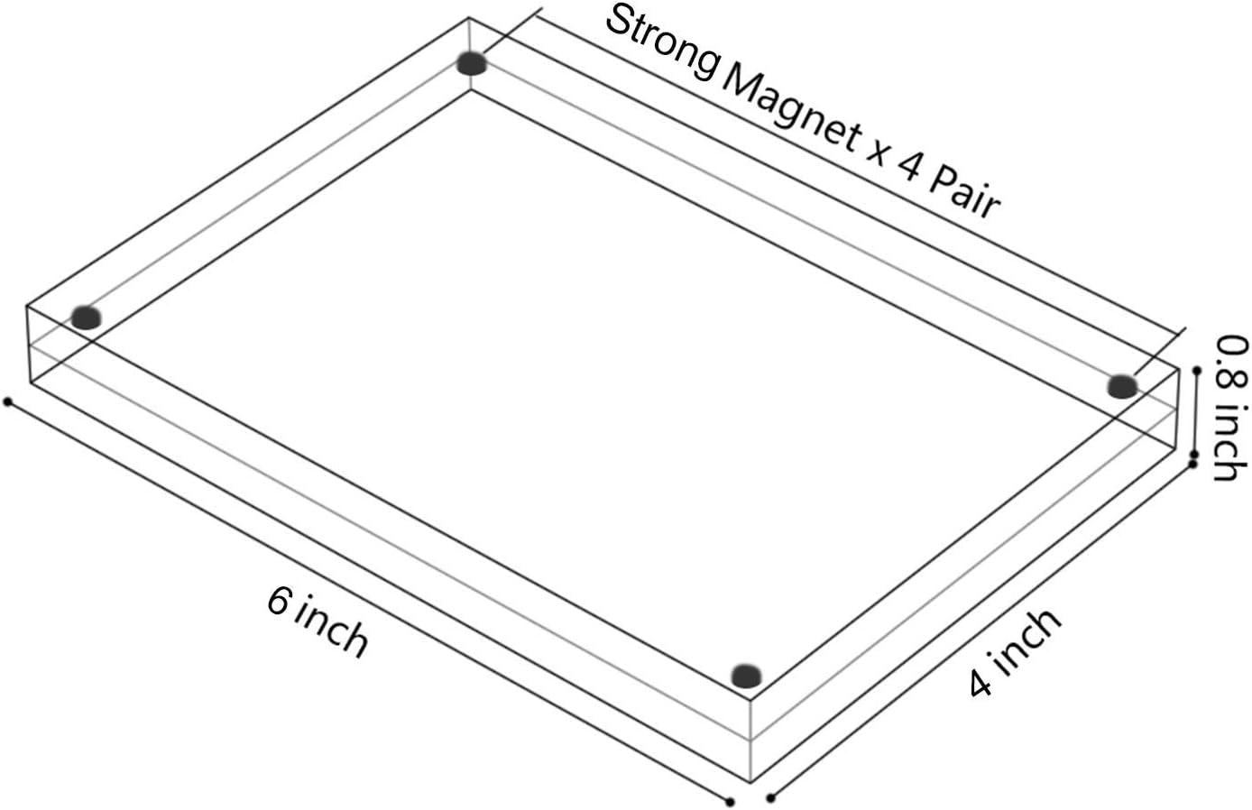 Acrilico Cornice Immagini Contiene 9/x 13/cm Immagini,10/+ 10/mm Spessore Frameless Desktop Cartolina Display/ /Trasparente AMEITECH Cornice Magnetica