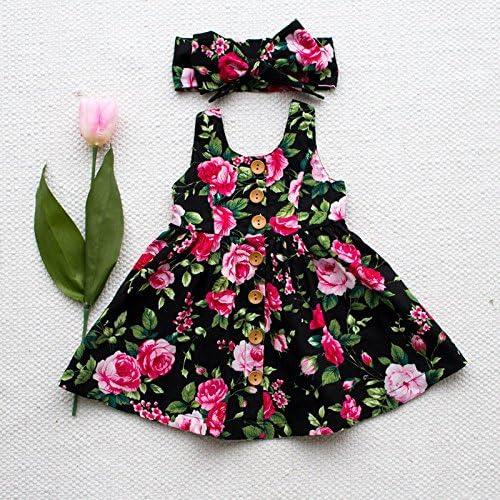 Zooarts bebé niños niñas Floral Princesa Fancy Disfraz de Vestido ...