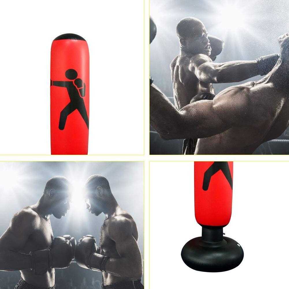 Saco de PVC Inflable Boxeo Soporte de Alivio de presi/ón para Trabajo Pesado de Boxeo Objetivo de Fitness Negro Accesorio 1PC