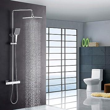KAIBOR columna ducha termostatica y ducha de lluvia 22x22 cm ...