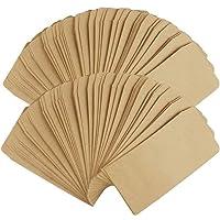 100 stuks mini papieren zakjes, mini-geschenkzakjes in bruin kraftpapieren zakjes, cadeauzakjes, sieradenzakjes…