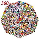 QWDDECO Stickers (360-PCS) Cute Stickers for Water Bottles Hydroflasks Skateboard- Decal Stickers for Teens, Girls, Boys, Adults-Laptop Stickers - Vinyl Stickers Waterproof - Sticker Pack Not Random