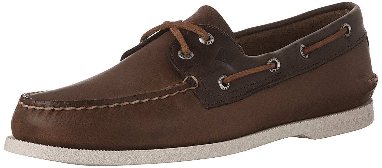 Men's Sperry Topsider, Authentic Original Boat Shoe TAN BROWN 9 M