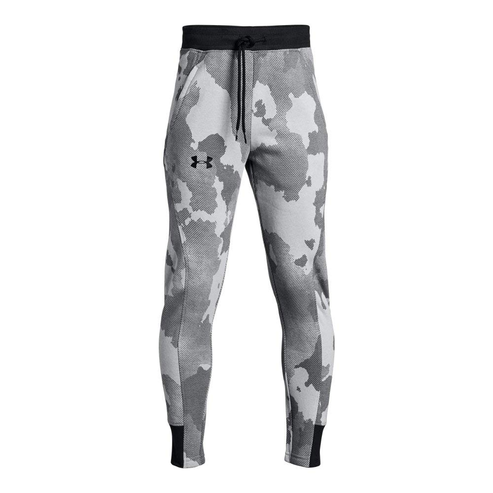 Under Armour Boys Rival Printed Jogger, Steel (035)/Black, Youth X-Small by Under Armour
