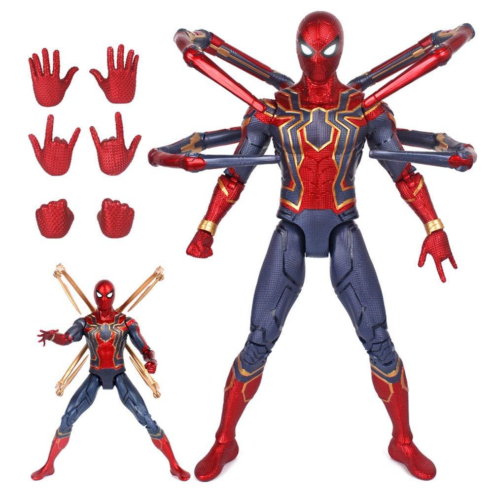 DS- Spielzeug 18-Zoll-großer Kampfanzug aus Stahl Spider-Man Avengers 3 Wireless-Kriegslicht super bewegliches Modell Spielzeug &&