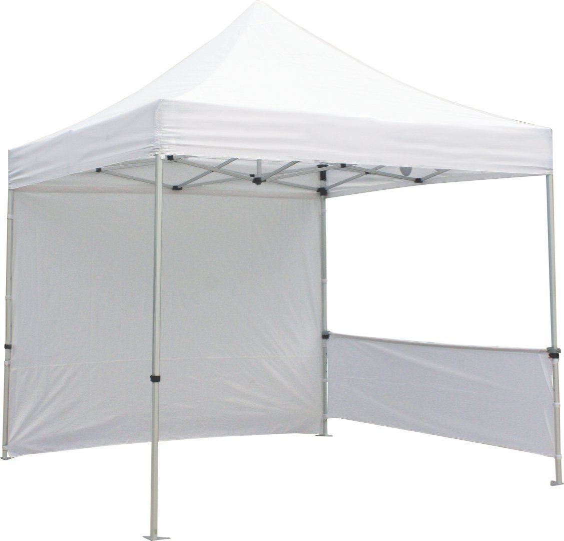 Exhibitor's Handbook TNT-3MX3M-FLL-WLL-WHT Zoom Popup Tent Full Wall Only, 10', White