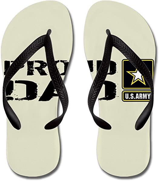 e9b4bfb0b66805 CafePress - U.S. Army  Proud Dad (Sand) - Flip Flops