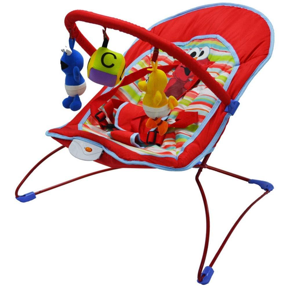 4歳未満の新生児に適しています 赤ちゃんのお手入れポータブルロッキングチェアリムーバブルコンパクト折りたたみ収納ベビーロッキングチェアベビーボディーガード (色 : 赤, サイズ : 57*33*52CM) 57*33*52CM 赤 B07QVC4GRL