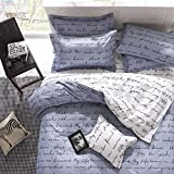 Vivona 3 Or 4pcs Polyester Fiber Letters Reactive Dyeing Bedding Sets Twin Full Queen Size - (Size: Twin Size)