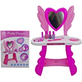 PoshTots Kids Baby Girl Big Size Beauty Roleplay Dream Dressing Table Set  With Mirror   (