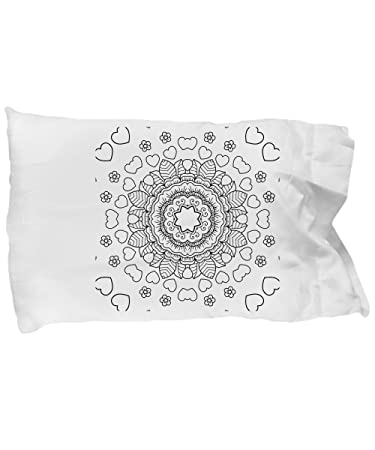 Amazon.com: Pillowcases to decorate with heart symbols and flowery ...