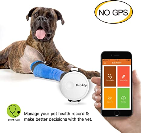 Amazon.com: Monitor de actividad Tuokiy Pet Tracker fino y ...