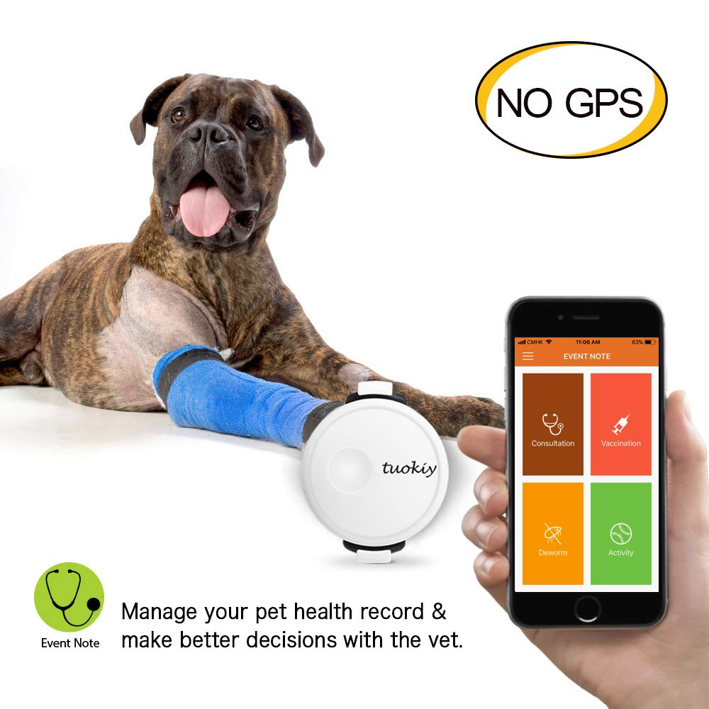 Amazon.com: Tuokiy Pet Fitness Tracker - Thin and Lightweight Pet Activity  Monitor for Dogs & Cats - Mood Detection(NO GPS): Pet Supplies