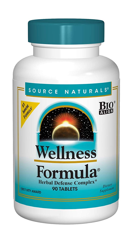Source Naturals Wellness Formula Bio-Aligned Vitamins & Herbal Defense - Immune System Support Supplement & Immunity Booster - 90 Tablets