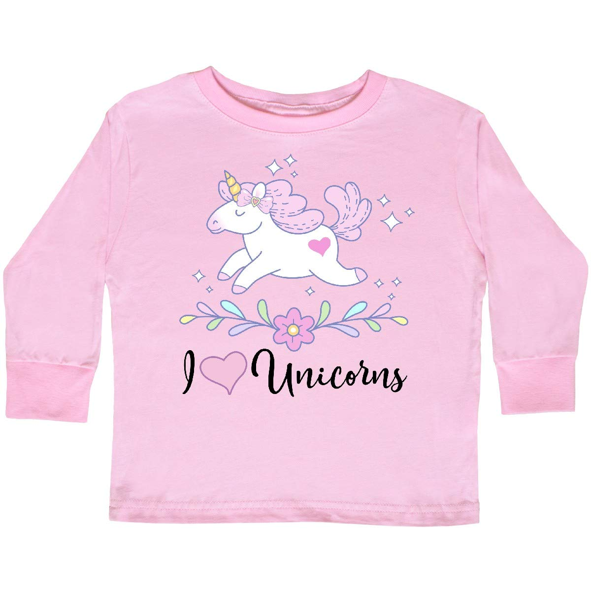 inktastic I Love Unicorns Toddler T-Shirt