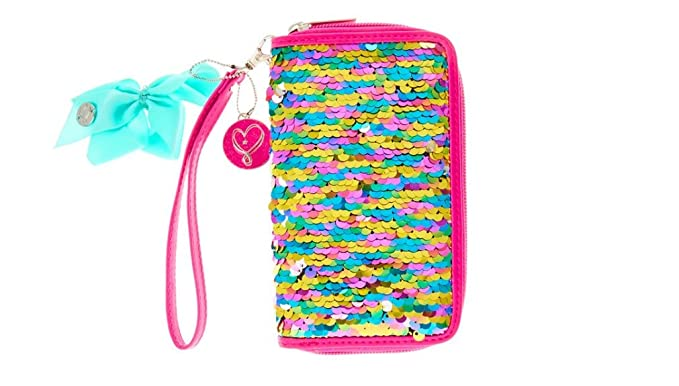 1384402c962a2 Amazon.com  Jojo Siwa Pink Reversible Sequin Wristlet Wallet  Clothing