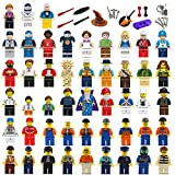 Naturalway Minifigures Set - 48+26pcs Community Mini People and Accessories 100% Compatible Building Bricks Minifigures for Kids Party,to Build More Fun.