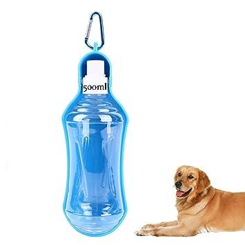 Botella de agua para perro Aide, pequeña botella de alimentación para mascotas, dispensador de agua con gancho portátil para viajes y actividades al aire ...