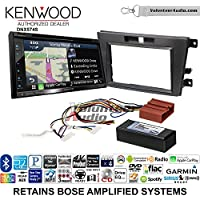 Volunteer Audio Kenwood DNX574S Double Din Radio Install Kit with GPS Navigation Apple CarPlay Android Auto Fits 2007-2009 Mazda CX-7 (With Bose)