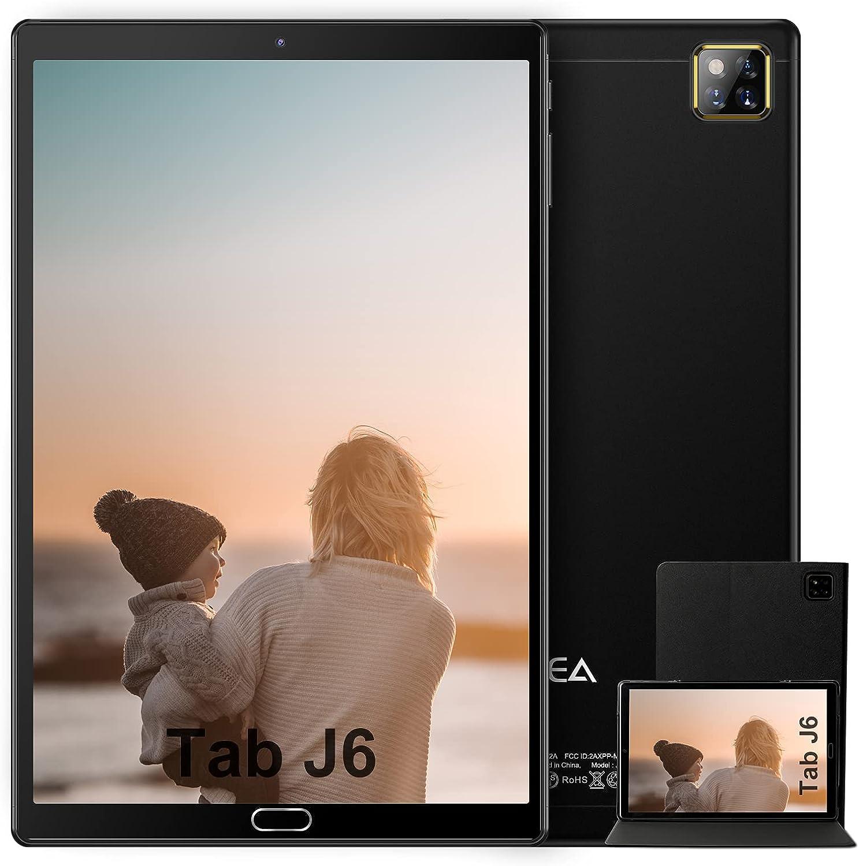 Tablet 10 Pulgadas Android 10.0 - RAM 4GB | ROM 64GB - WiFi - Octa Core (Certificación Google GMS) - JUSYEA Tableta - Batería de 6000mAh - Cubierta (Negro)