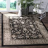 Safavieh Lyndhurst Collection LNH340D Oriental Anthracite and Cream Area Rug (8′ x 10′) For Sale