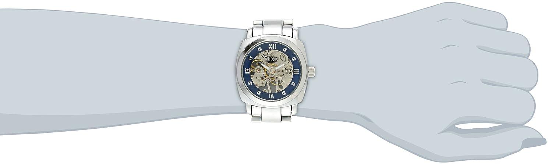 Silver See Bracelet With Tko Through Women's Tk628s Orlogi Watch Mechanical Skeleton Hand 4Ac35qRjL