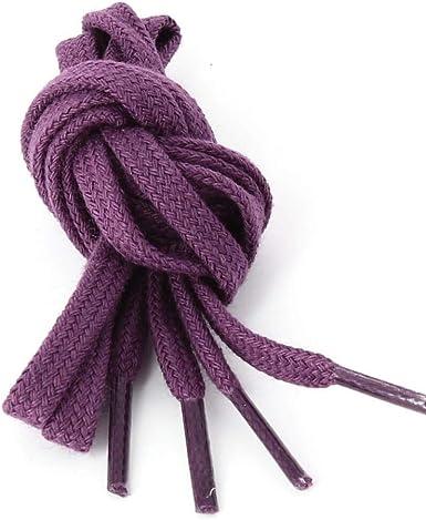 Les lacets Français – Cordones planos de algodón, color granate ...