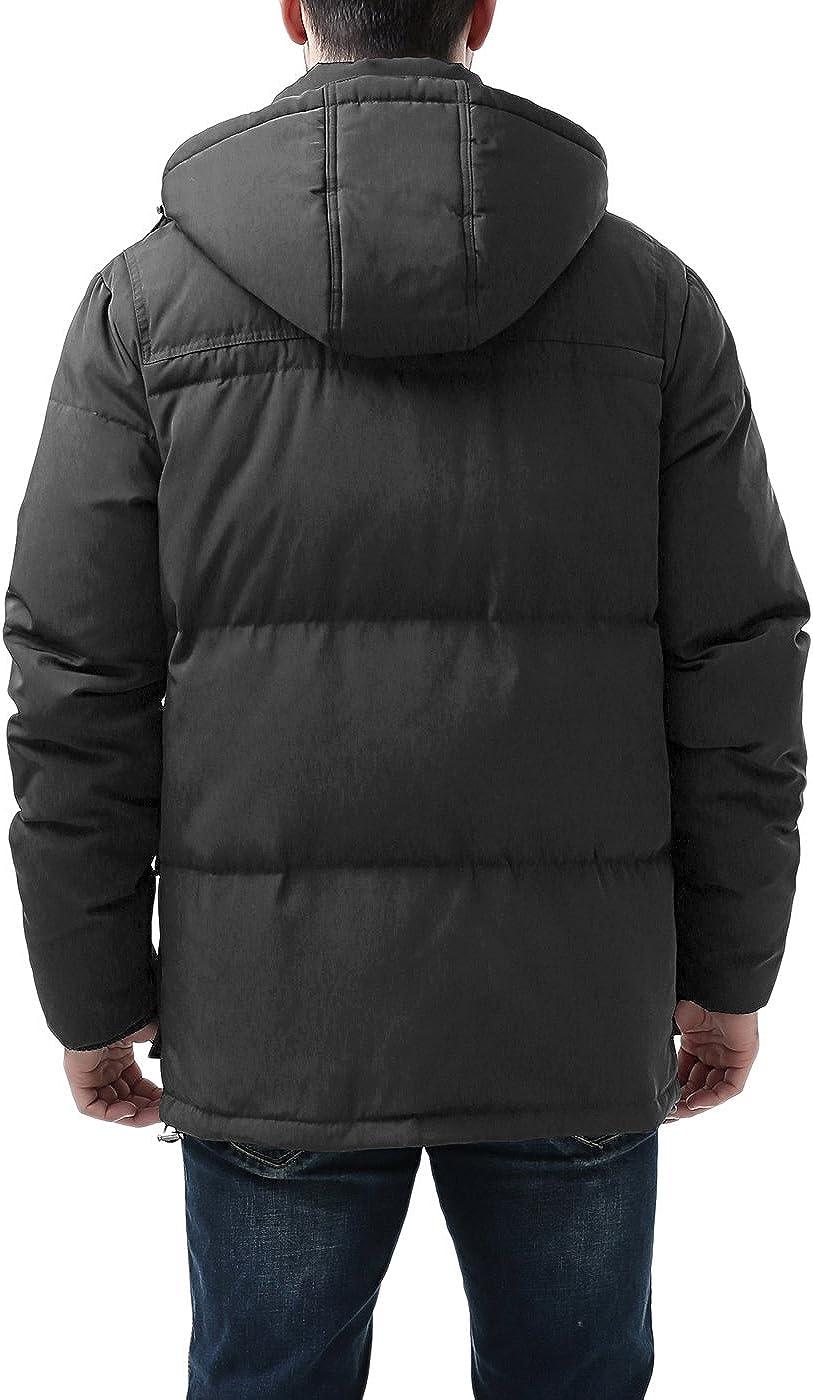 BGSD Mens Connor Hooded Waterproof Toggle Down Parka Coat Regular and Big /& Tall