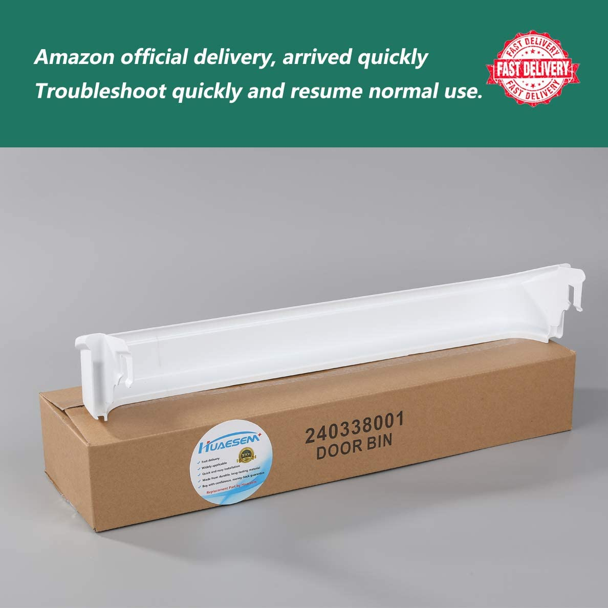 """Door Bin Shelf for Refrigerator 240338001 Replacement Part - Compatible with Frigidaire & Gibson & Electrolux Refrigerator (24.5"""" wide X 2.5"""" inches deep): Home Improvement"""