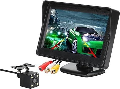 TOOGOO 5 Pouce Numerique Couleur Tft 800 x 480 LCD Voiture de Parking Moniteur Miroir 2 Entree Video pour Vue Arriere Camera Systeme DAide Au Stationnement