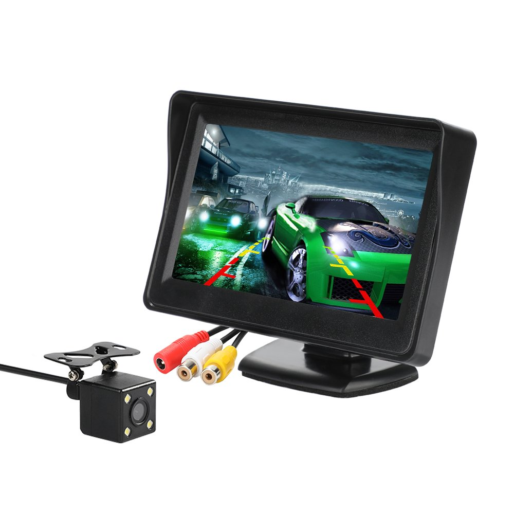 Micarba Car Backup Camera And Monitor Kit 43 Inch Lcd Amazonco Install Land Rover Discovery Electronics