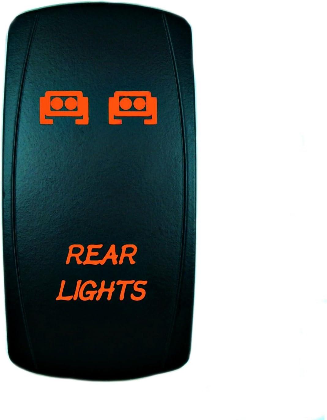 STVMotorsports Laser Orange Rocker Switch Rear Lights 20A 12V On/Off LED Lights
