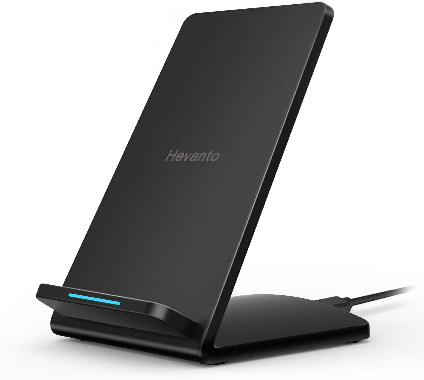 Hevanto Fast Wireless Charger, [QI-Certified] Top Speed Wireless Charging Stand, 7.5W for iPhone Xs Max/Xs/XR/X/8 Plus, 10W for Galaxy Note 10/Note 10+/Note 8/S10/S10+/S10e/S9/S9+ S8/S8+ (NO Adapter)