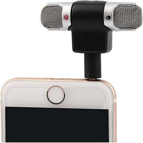 SMARTLADY Portátil Profesional Mini Stereo Grabador Mic Micrófonos para Smartphones PC: Amazon.es: Electrónica