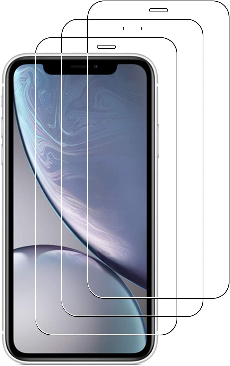 ToneGod 3-Pack Screen Protector for iPhone 11 and iPhone XR 6.1-Inch, 0.25mm Tempered Glass Screen Protector Tempered Glass Film Resist Scratch Anti Crack&Fingerprints,Easy to Install.