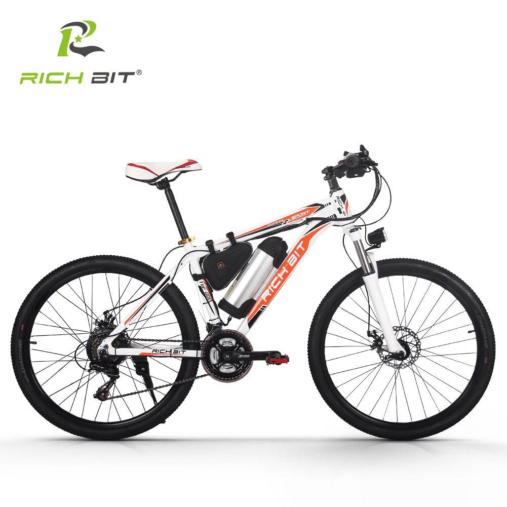 電動アシスト自転車 MTBマウンテンバイク シマノ社製21段変速搭載 軽量ダイヤモンドフレーム 軽量LGリチウムバッテリー B079BR83GP オレンジ オレンジ