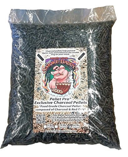 Smoke Daddy Pellet Pro Charcoal/Oak Pellets Pellet Grill Fuel BBQ Pellets (20lb Bag)