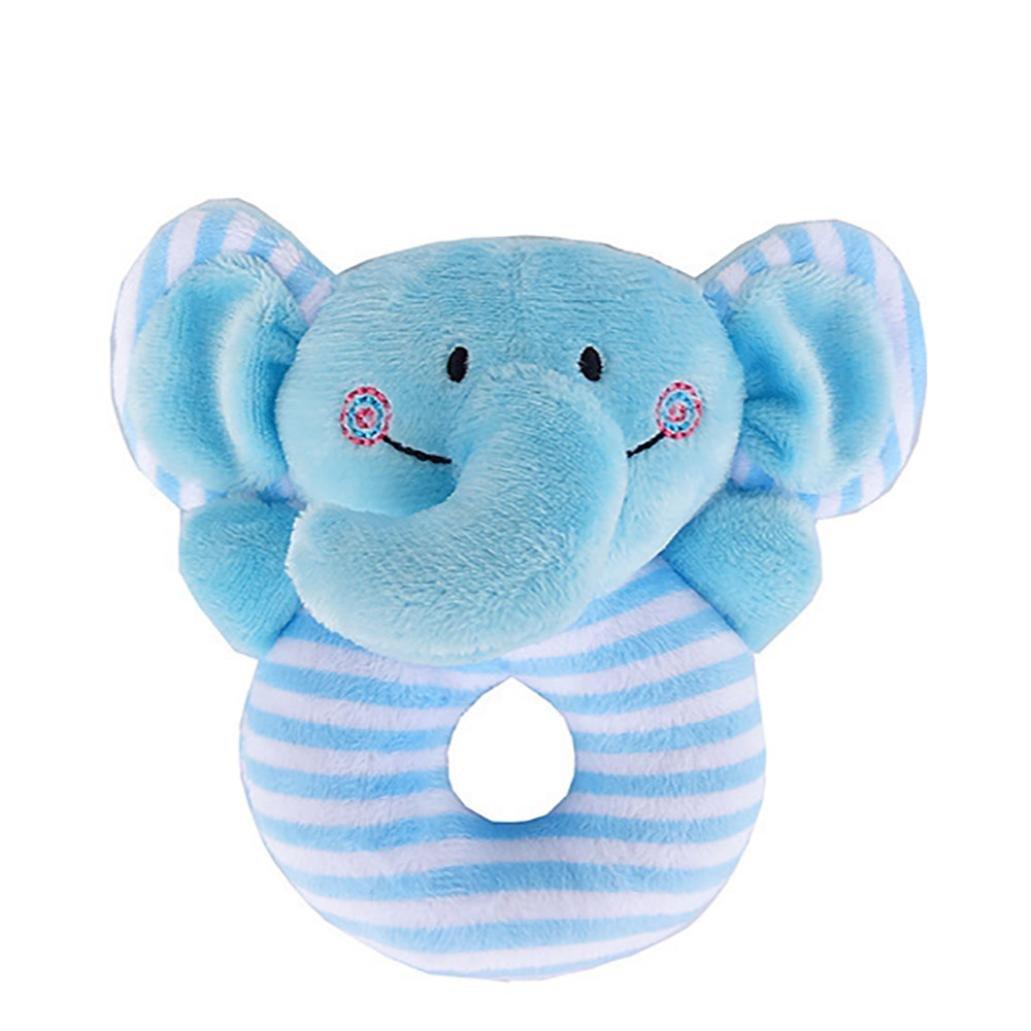 Baby Animal Handbells Musical Developmental Toy Bed Bells Rattle Toys Gift Nice