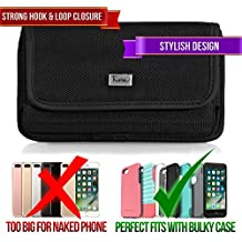 Rugged Case for Sony Xperia X10 Mini, TMAN Premium Horizontal Pouch Protective Carrying Holster with Belt Clip (Fits with Otterbox, Lifeproof, Waterproof, Battery and Other Armor Case)