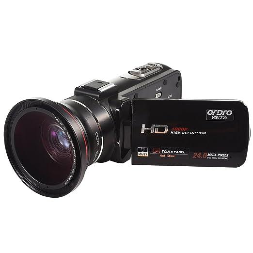 3 opinioni per ORDRO 1080P 30FPS HD videocamera Con lente d'angolo larga 72mm Camera Digitale